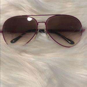 Ralph Lauren purple aviator sunglasses.